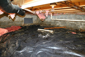 Crawl Space Without Insulation and Winterization