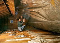 Radiant Barrier Attic Insulation in a West Virginia home