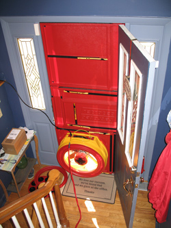 Blower door test for Steubenville homes
