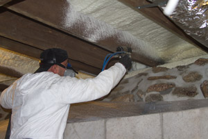 Spray Foam in the crawl space in South Park Township